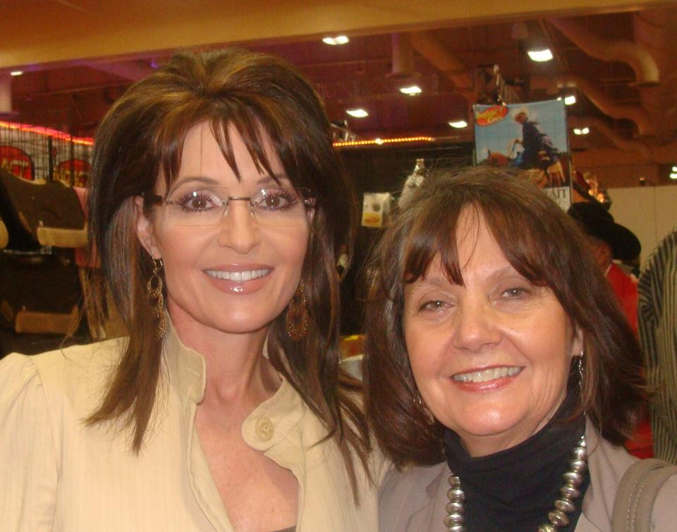 Donnalyn Quintana with Sarah Palin